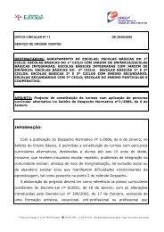 Ofício Circular nº 11 - Direcção Regional de Educação de Lisboa