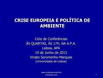 19.06.2013 - Agência Portuguesa do Ambiente