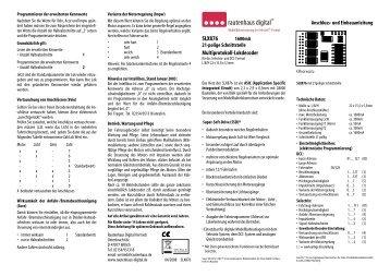 Anleitung zum Multiprotokoll-Lokdecoder SLX876 - MDVR