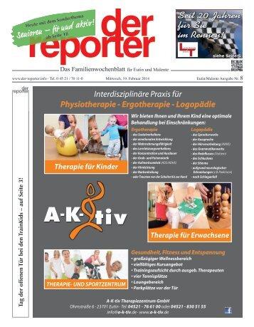 der reporter - Das Familienwochenblatt für Eutin und Malente 2014 KW 08