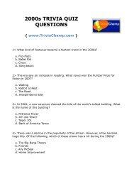 2000s TRIVIA QUIZ QUESTIONS - Trivia Champ