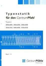 Typenstatik - Centrum Pfähle