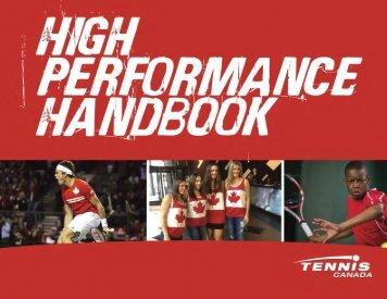 High Performance Handbook - Tennis Canada