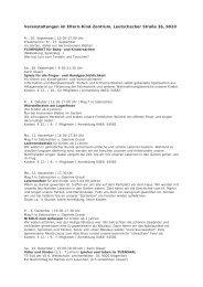Eltern-Kind-Zentrum - Herbstprogramm - Klagenfurt