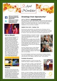 April Newsletter 2013 - Operatunity