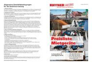 Preisliste Mietgeräte - RHYNER PROFI-SHOP - Rhyner Fachhandel ...