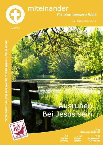 Ausruhen. Ausruhen. Bei Jesus sein. Bei Jesus sein. miteinander ...