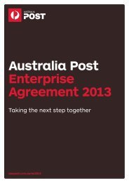 Australia Post Enterprise Agreement 2013 (531kb)