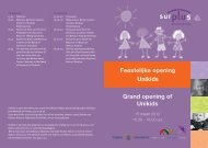 Unikids Feestelijke opening Grand opening of Unikids - Surplus ...