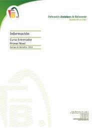Informacion - Federación Andaluza de Baloncesto