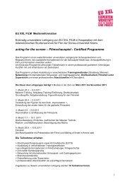 acting for the screen – Filmschauspiel - Certified Programme - EU XXL