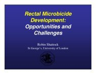 Rectal Microbicide Development: Opportunities and Challenges