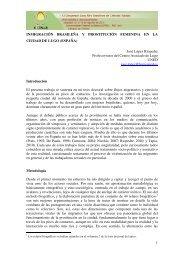 inmigración brasileña y prostitución femenina en la ciudad