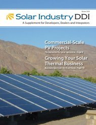 Commercial-Scale PV Projects Growing Your Solar Thermal Business