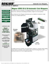 Magner SIRIO 20 & 30 Automatic Coin Wrappers - Financial ...