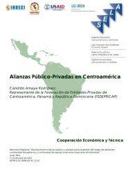 Alianzas Público-Privadas en Centroamérica - SELA