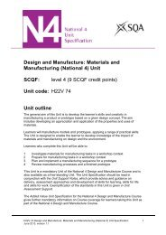 Design and Manufacture: Materials and Manufacturing - Scottish ...