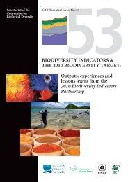 BIODIVERSITY INDICATORS & THE 2010 BIODIVERSITY TARGET ...
