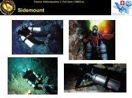 """Sidemount: """"Englisch"""" (1) - bei Swiss-Cave-Diving"""