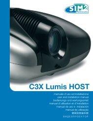 C3X Lumis HOST - SIM2 Extranet