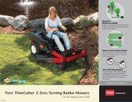 Toro® TimeCutter® Z Zero Turning Radius Mowers