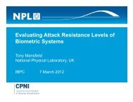 Evaluating Attack Resistance Levels of Biometric Systems