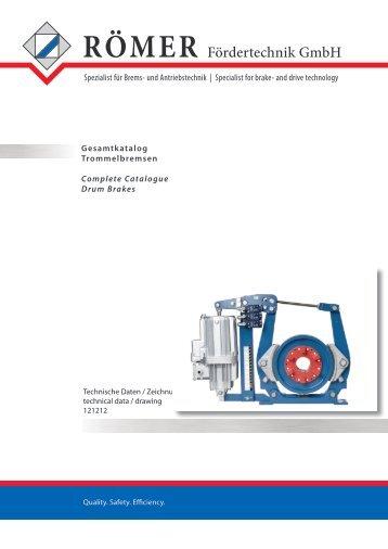 Gesamtkatalog Trommelbremsen (TB) - Römer Fördertechnik GmbH