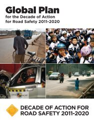 Global Plan for the Decade of Action - World Health Organization