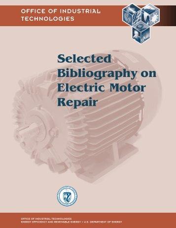 Electric motor sleeve bea for Electric motor repair supplies