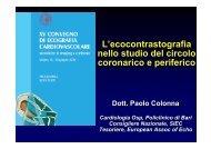 L'ecocontrastografia nello studio del circolo coronarico e periferico