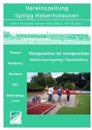 Ausgabe 1 - SpVgg Hebertshausen