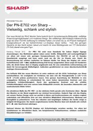 Der PN-E702 von Sharp – Vielseitig, schlank ... - Sharp Electronics