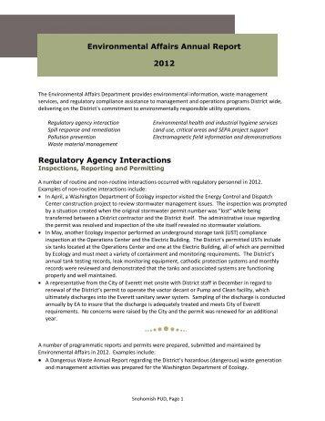 2012_EA_annual.pdf - Snohomish County PUD