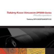 Tiskárny KODAK VERSAMARK DP5000-Series Příručka operátora ...