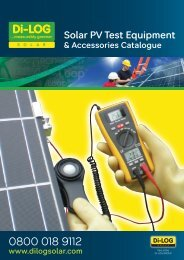 Solar PV Test Equipment - Rapid Electronics