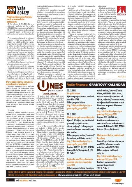 Svět neziskovek 12/2012 - Neziskovky