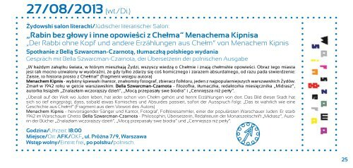 program Lipiec - Sierpień 2013 - Austriackie Forum Kultury