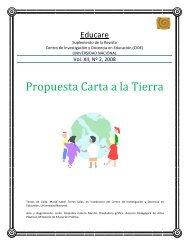 Propuesta Carta a la Tierra - Earth Charter Initiative