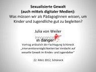 Sexualisierte Gewalt - Innocence in danger