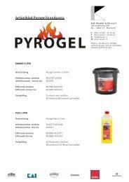 Pyrogel overzicht assortiment - AG Kessler & Zn. vof