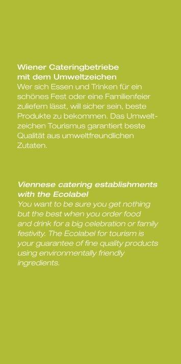 Bezugsquellen für Umweltzeichen Caterer in Wien