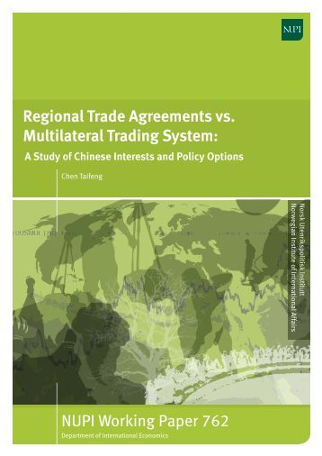development of multilateral trading system
