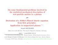 pdf copy of the talk - Theoretische Physik IV