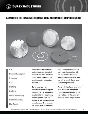 Advanced Thermal Solutions for Semiconductor ... - Durex Industries