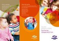 Purchasing Wraparound Care Leaflet - Renfrewshire Council
