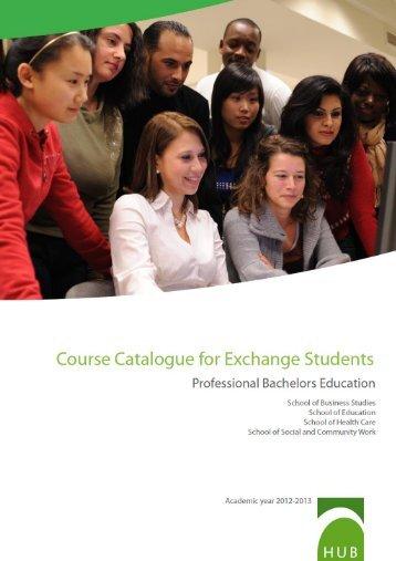 Course Catalogue - Hogeschool-Universiteit Brussel
