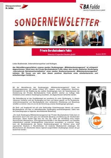 erfahren Sie mehr... - Private Berufsakademie Fulda