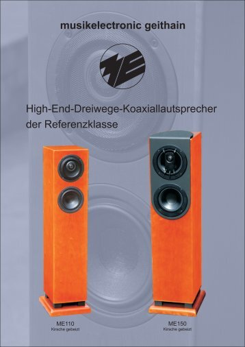 musikelectronic geithain High-End-Dreiwege ... - Claus Bücher Audio