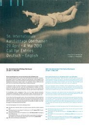 56. Internationale Kurzfilmtage Oberhausen 29. April – 4. Mai 2010 ...