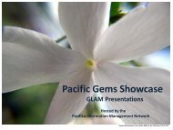 Pacific Gems Showcase - Lianza